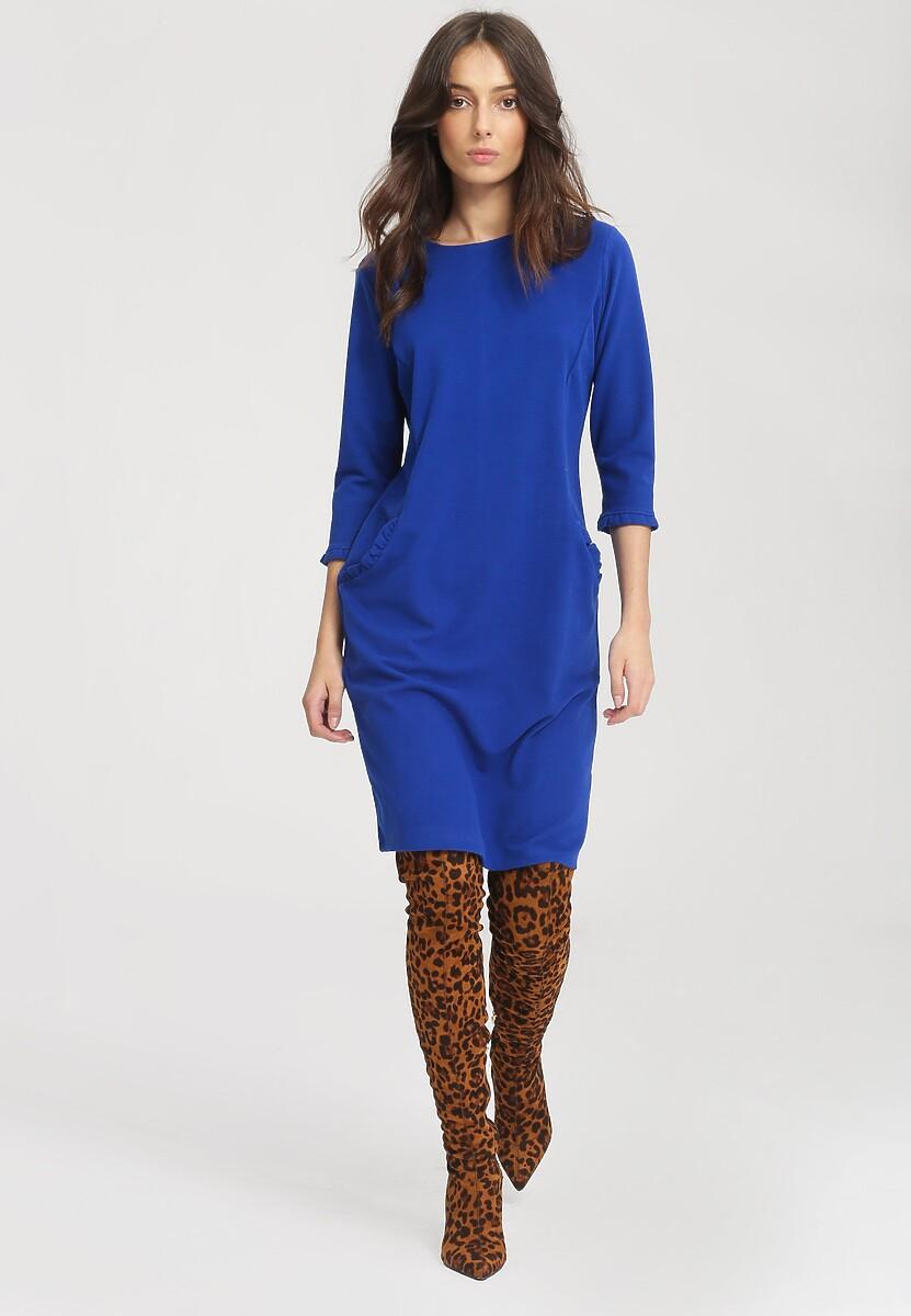 Niebieska Sukienka Docility