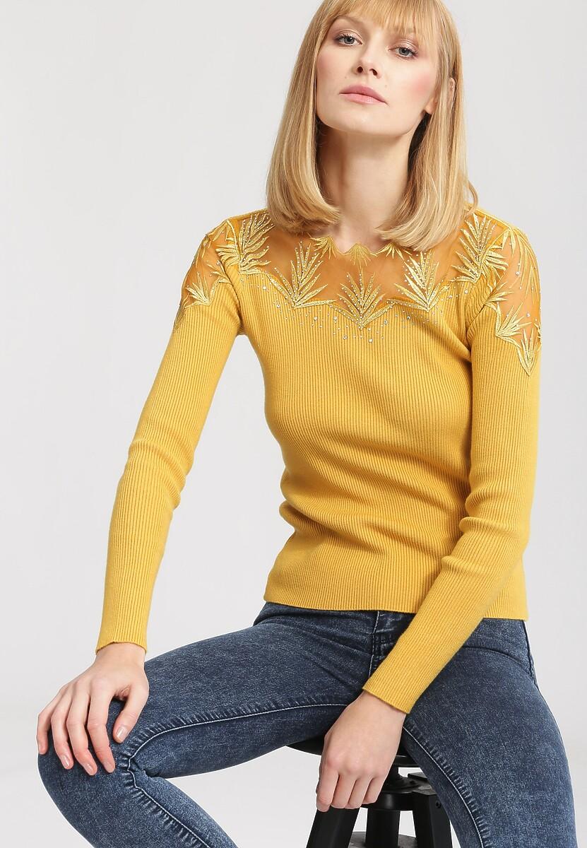 Żółty Sweter Swag