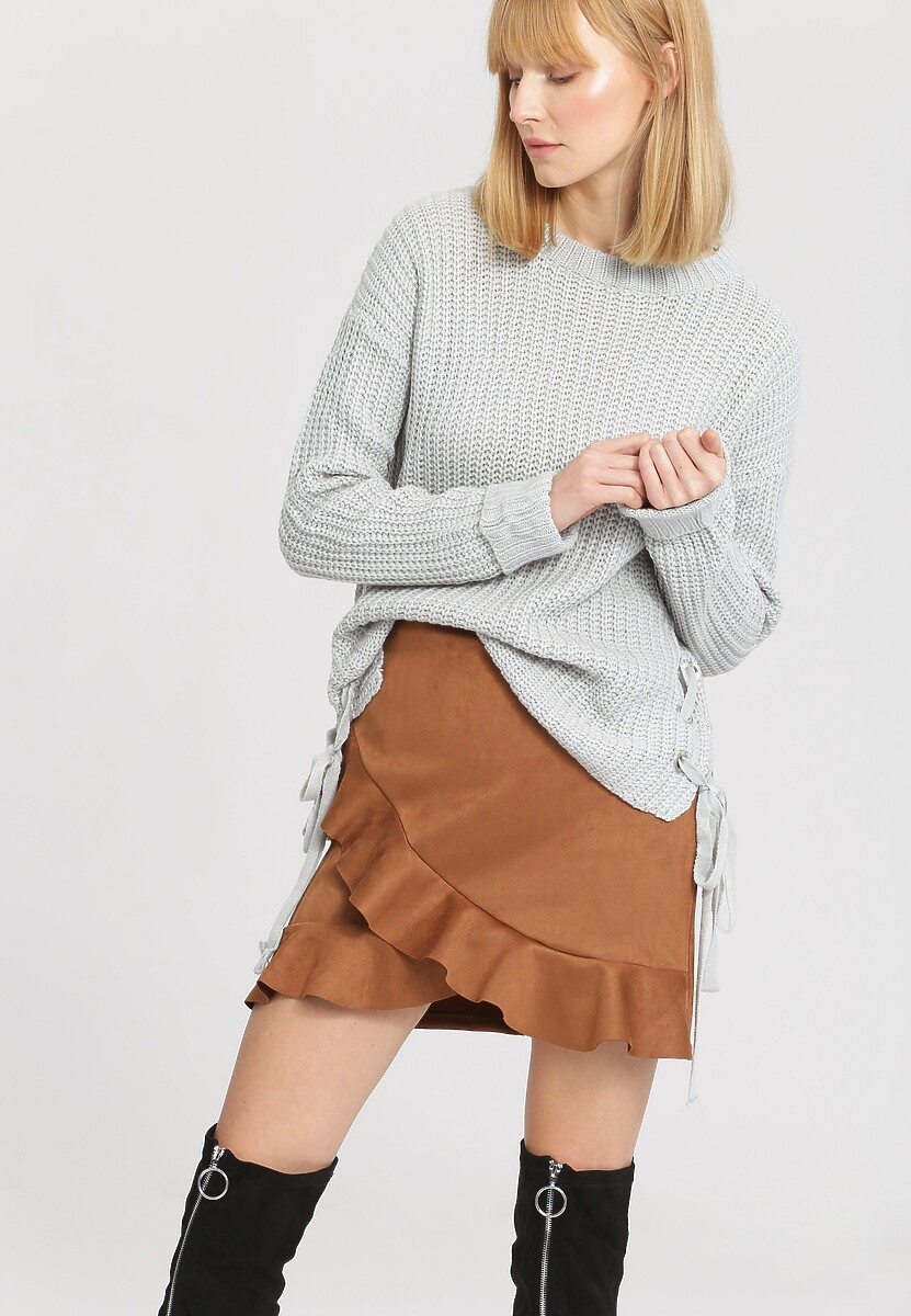 Jasnoszary Sweter Safe Me