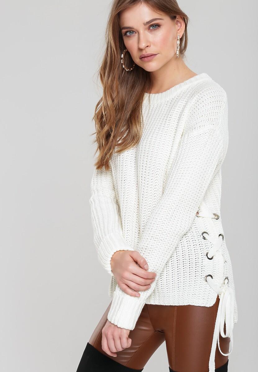 Kremowy Sweter Safe Me