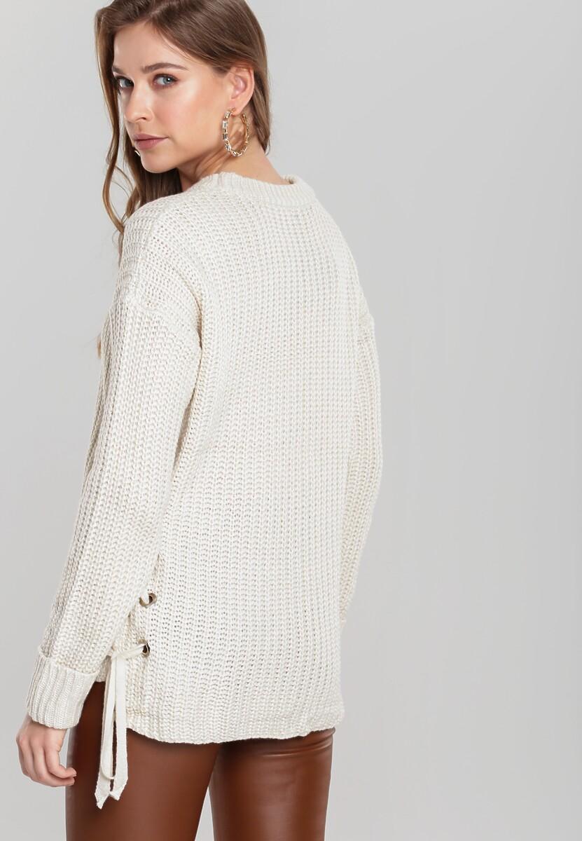Jasnobeżowy Sweter Safe Me