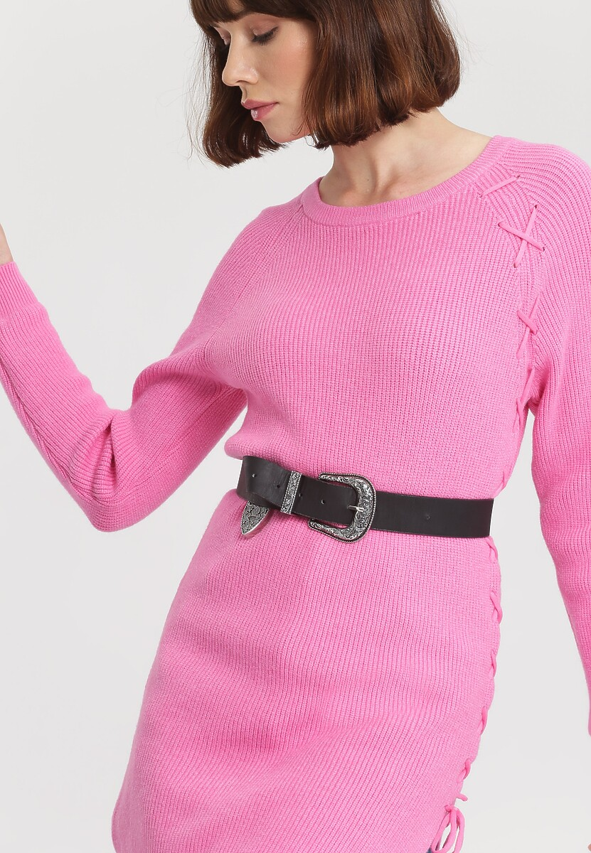 Fuksjowy Sweter Pow Wow