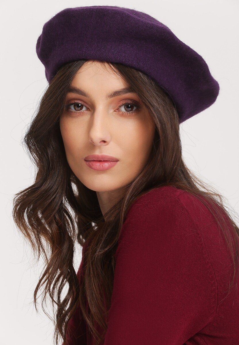 Ciemnofioletowy Beret Day On