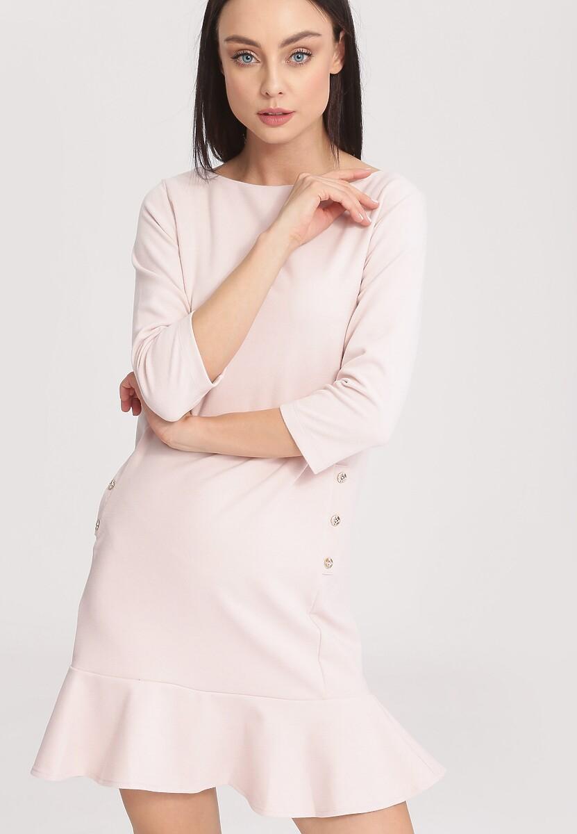 Jasnoróżowa Sukienka Effulgent