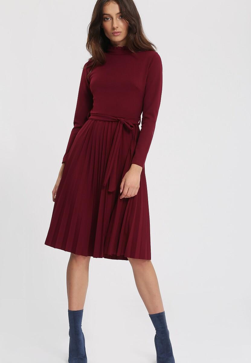 Ciemnobordowa Sukienka For You