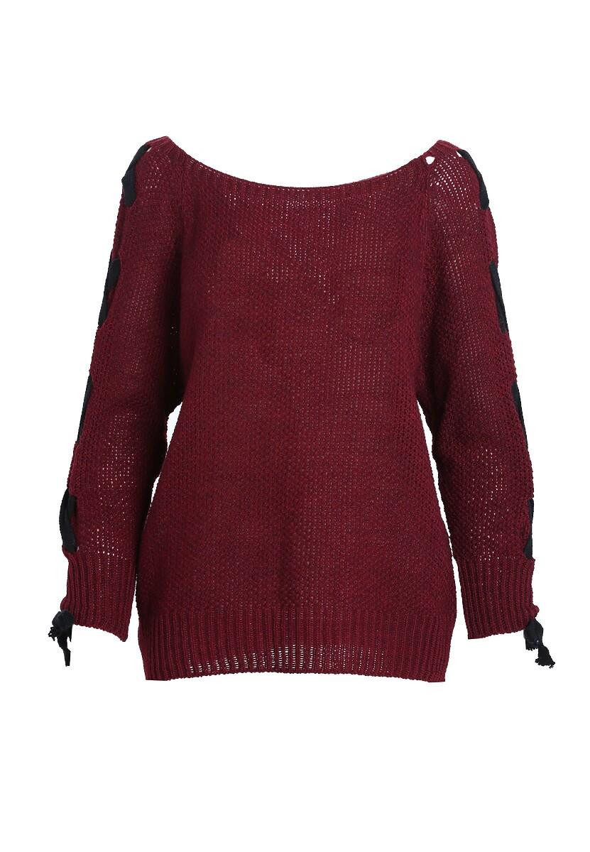 Bordowy Sweter Unit