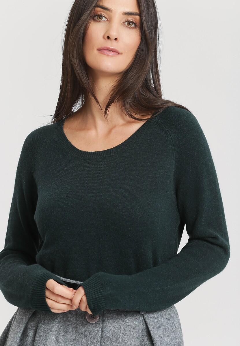 Ciemnozielony Sweter Average