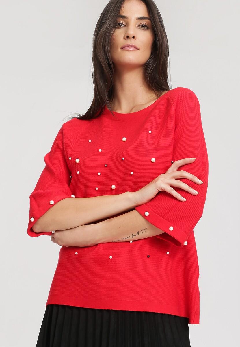 Czerwony Sweter Adventurous