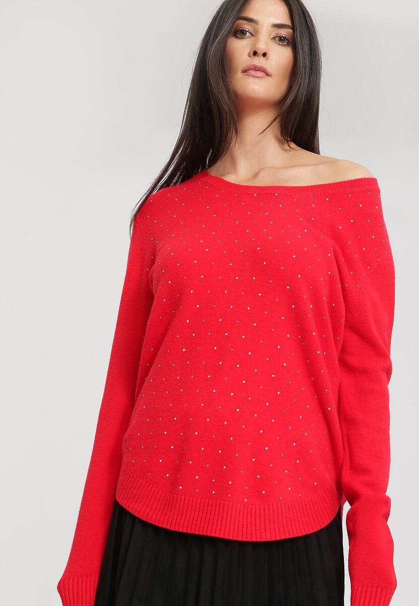 Czerwony Sweter Bossy