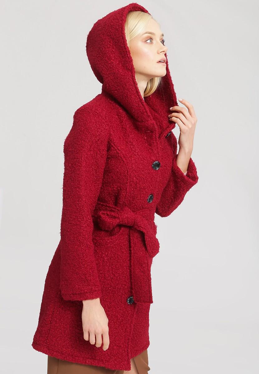 Bordowy Płaszcz Ladies Up