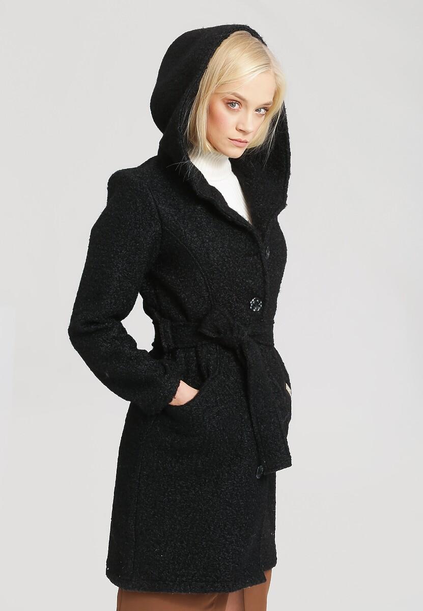 Czarny Płaszcz Ladies Up