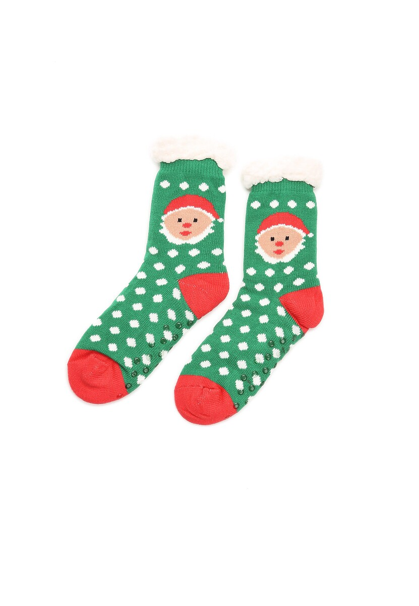 Zielono-Białe Skarpetki Christmas Time