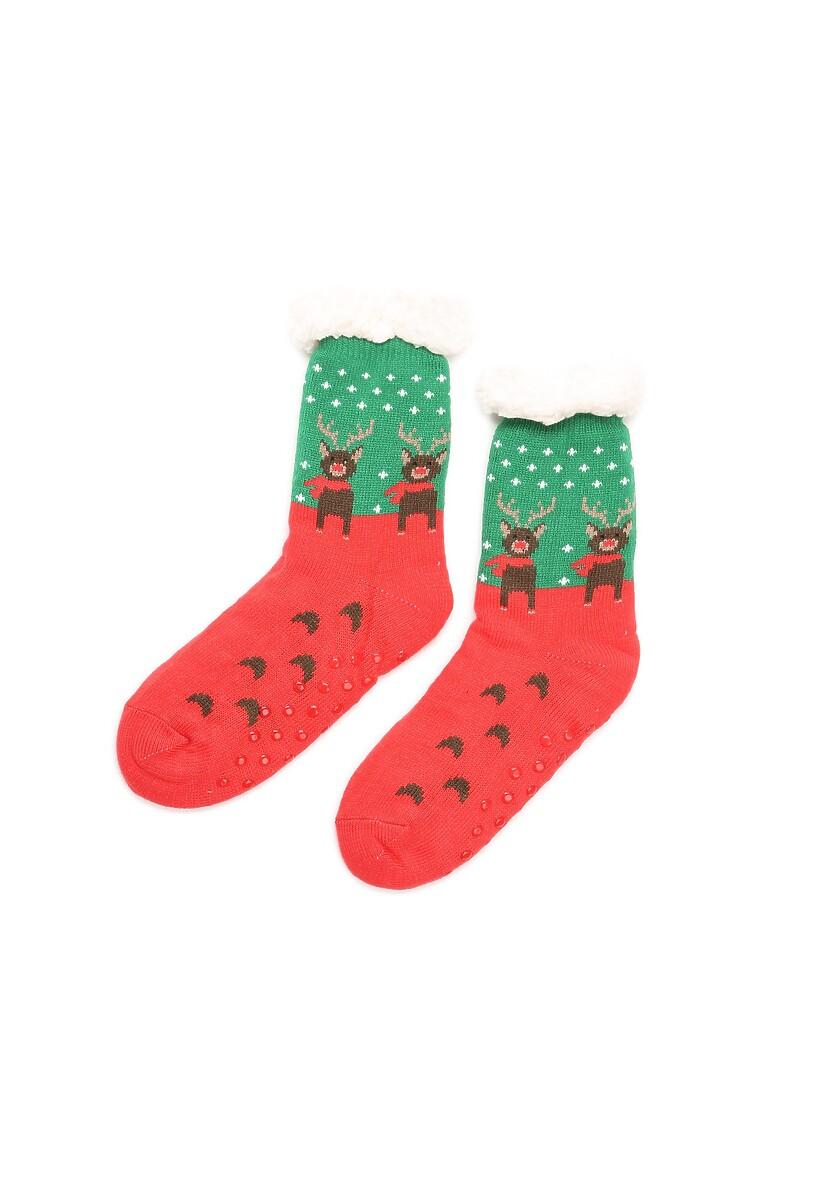 Czerwono-Zielone Skarpetki Christmas Time