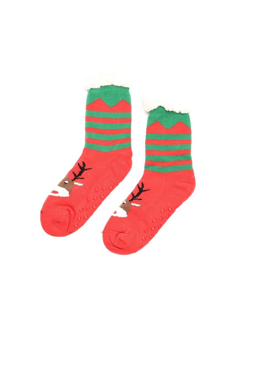 Zielono-Czerwone Skarpetki Christmas Time