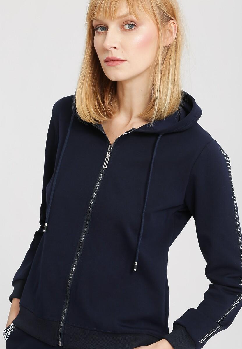 Granatowa Bluza Practical Chic