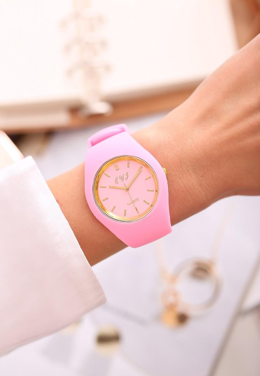 Różowo-Złoty Zegarek Modern Time