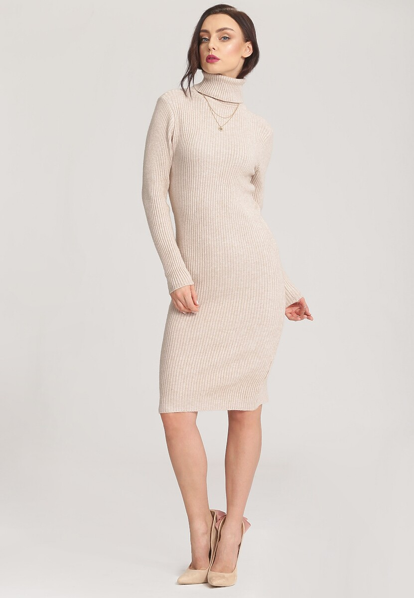 Jasnobeżowa Sukienka Concurrence
