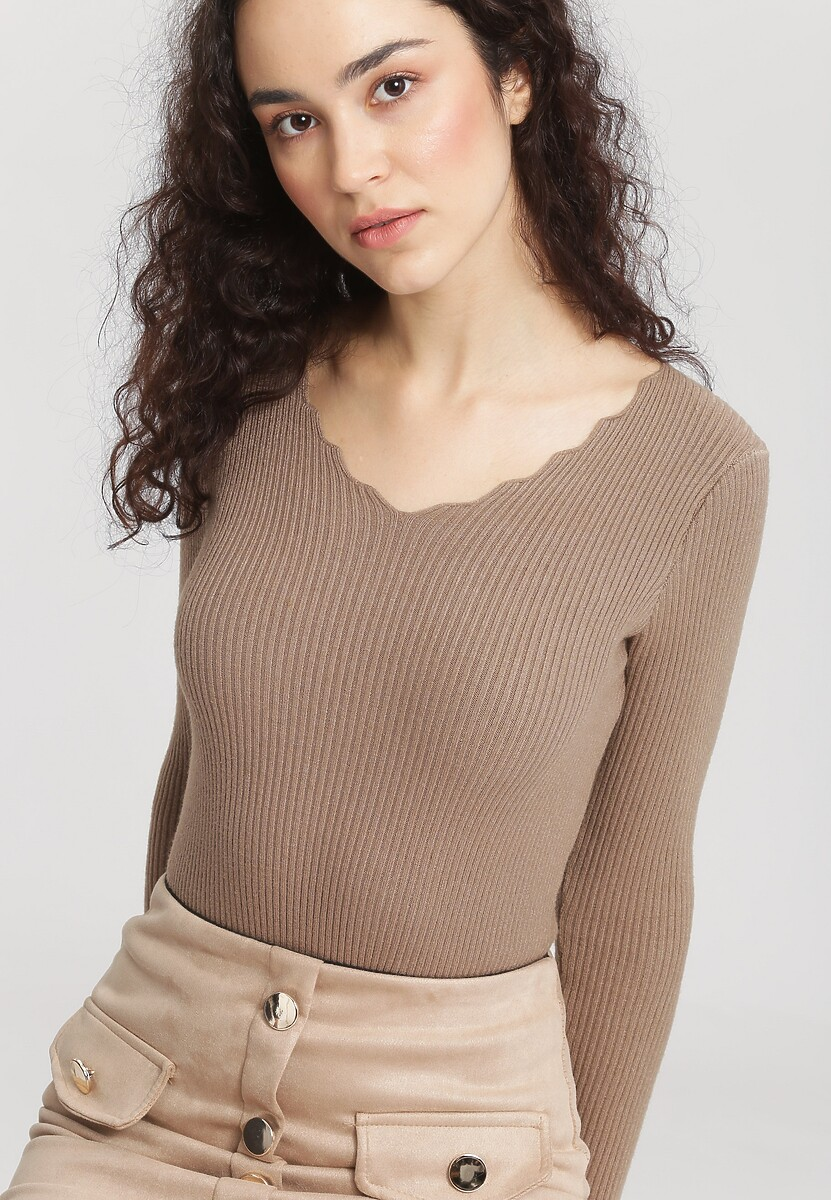 Jasnobrązowy Sweter Live Out