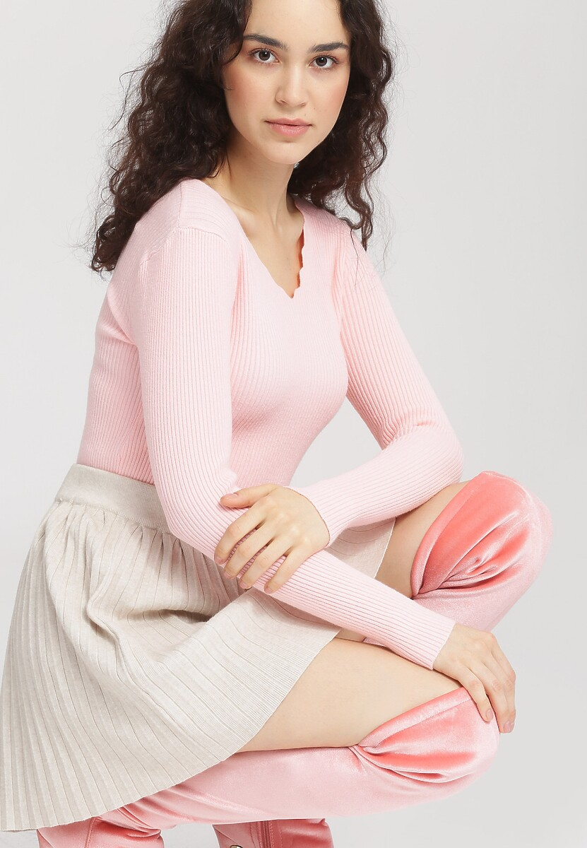 Różowy Sweter Live Out