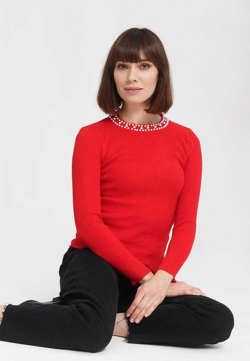 Czerwony Swetr Gentle