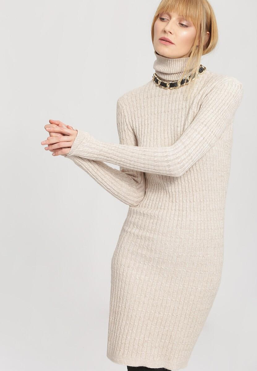 Jasnobeżowa Sukienka Actuality
