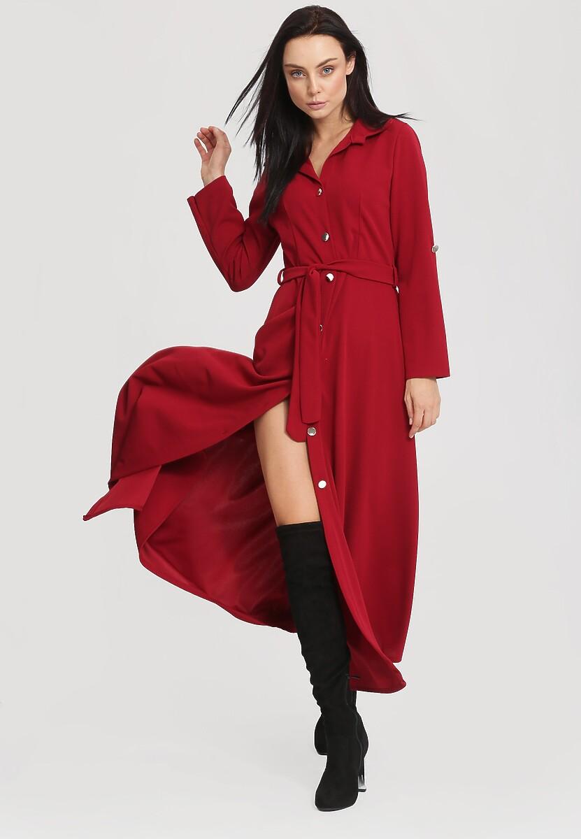 Bordowa Sukienka Determination