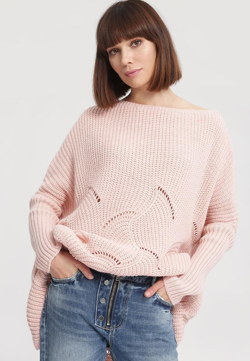 Różowy Sweter Take