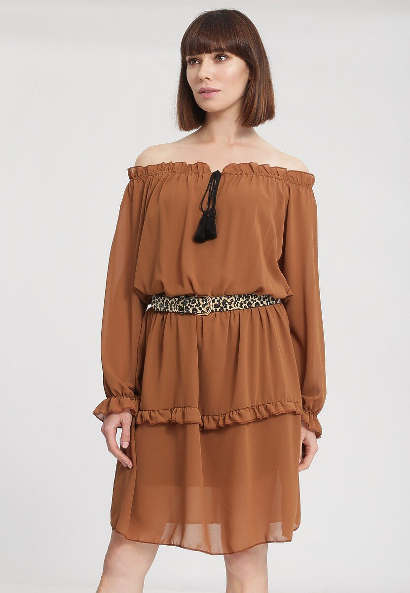 Camelowa Sukienka Homogeneity