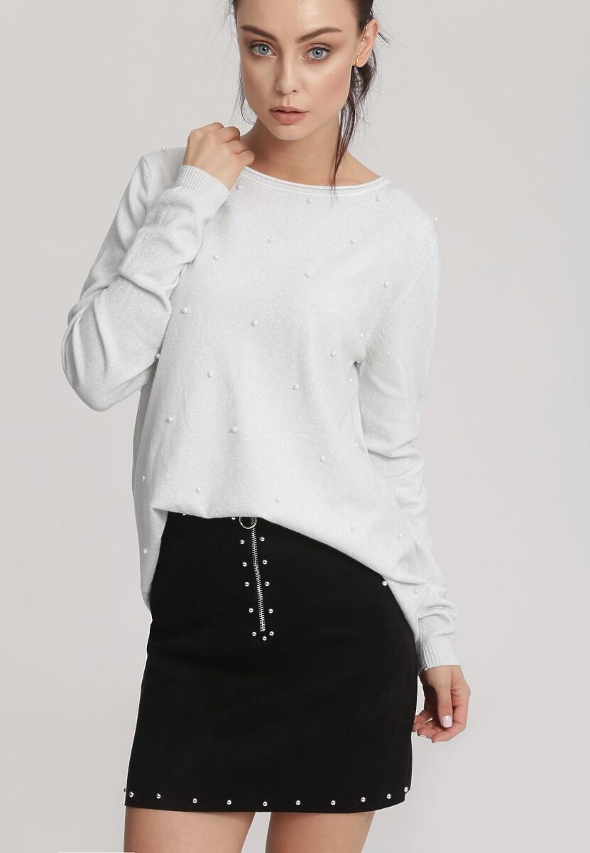 Biały Sweter Fling The Rules