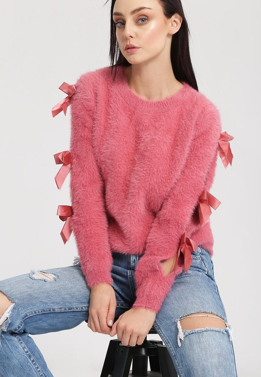 Ciemnoróżowy Sweter Lucky Luck
