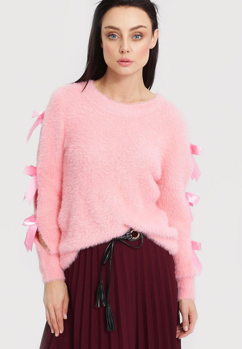 Różowy Sweter Lucky Luck