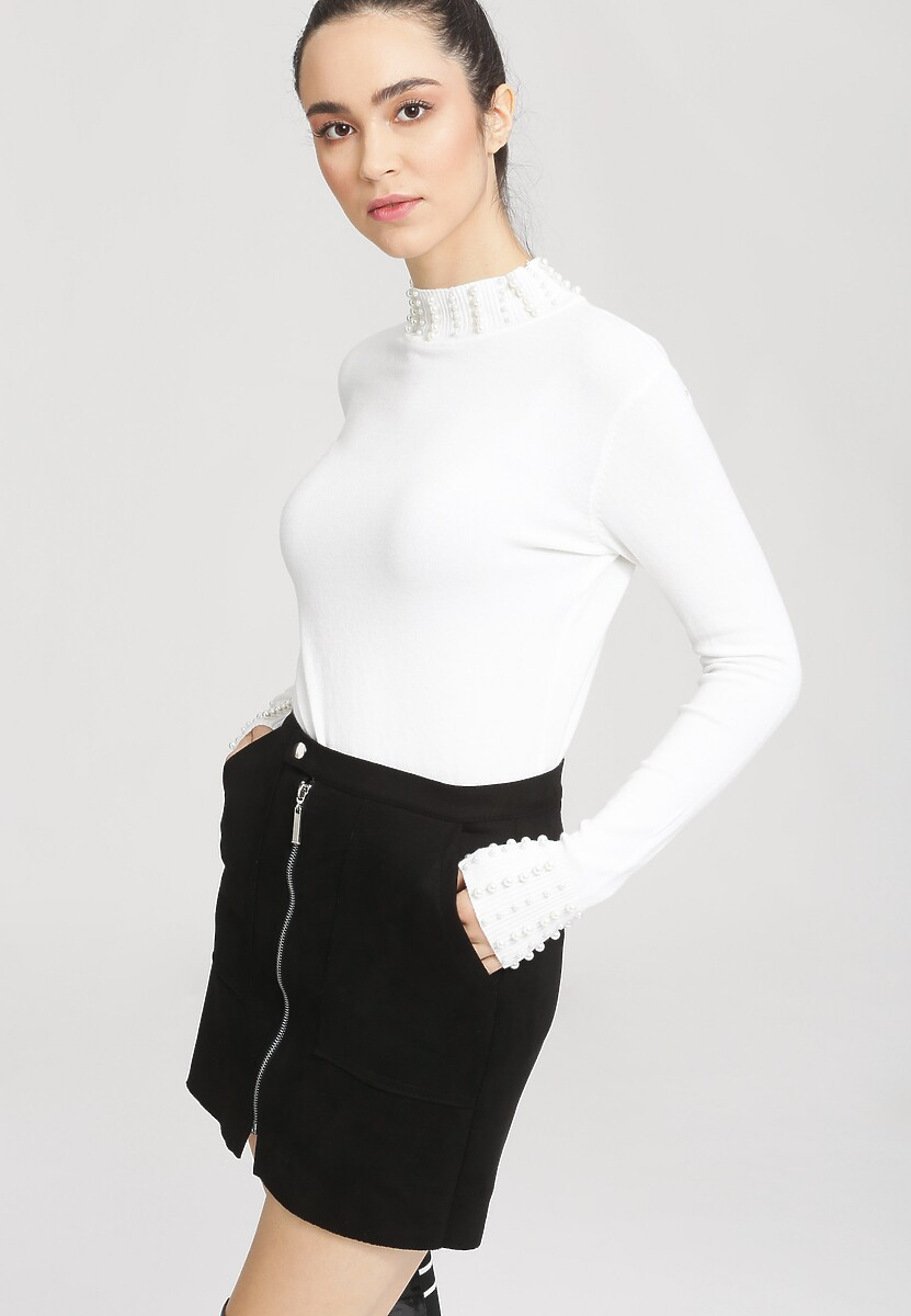 Biały Sweter Remember