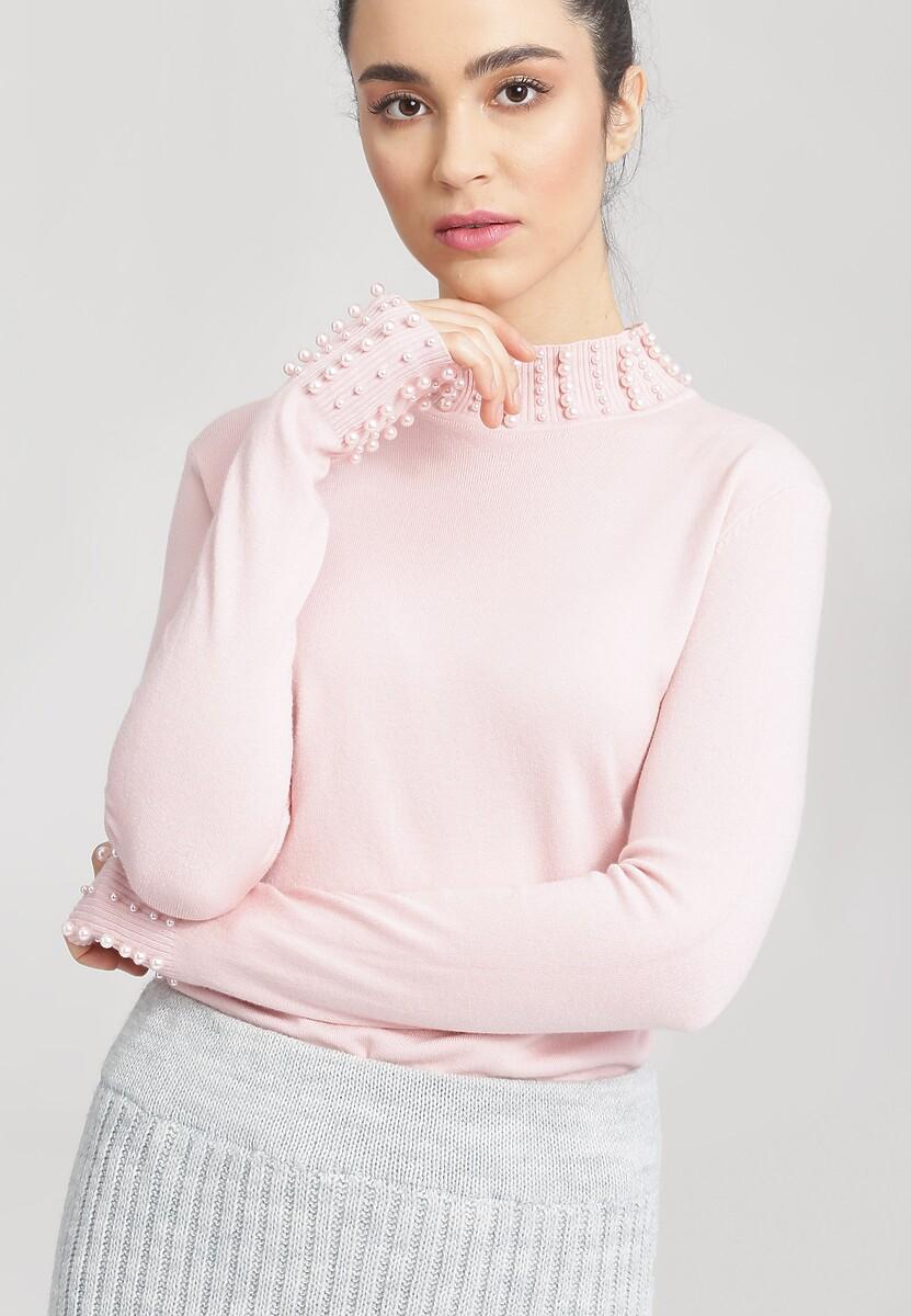 Jasnoróżowy Sweter Remember