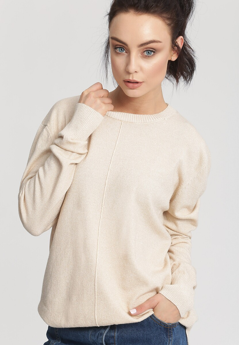 Jasnobeżowy Sweter Cosmos