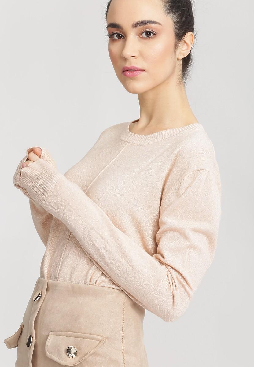 Jasnoróżowy Sweter Cosmos