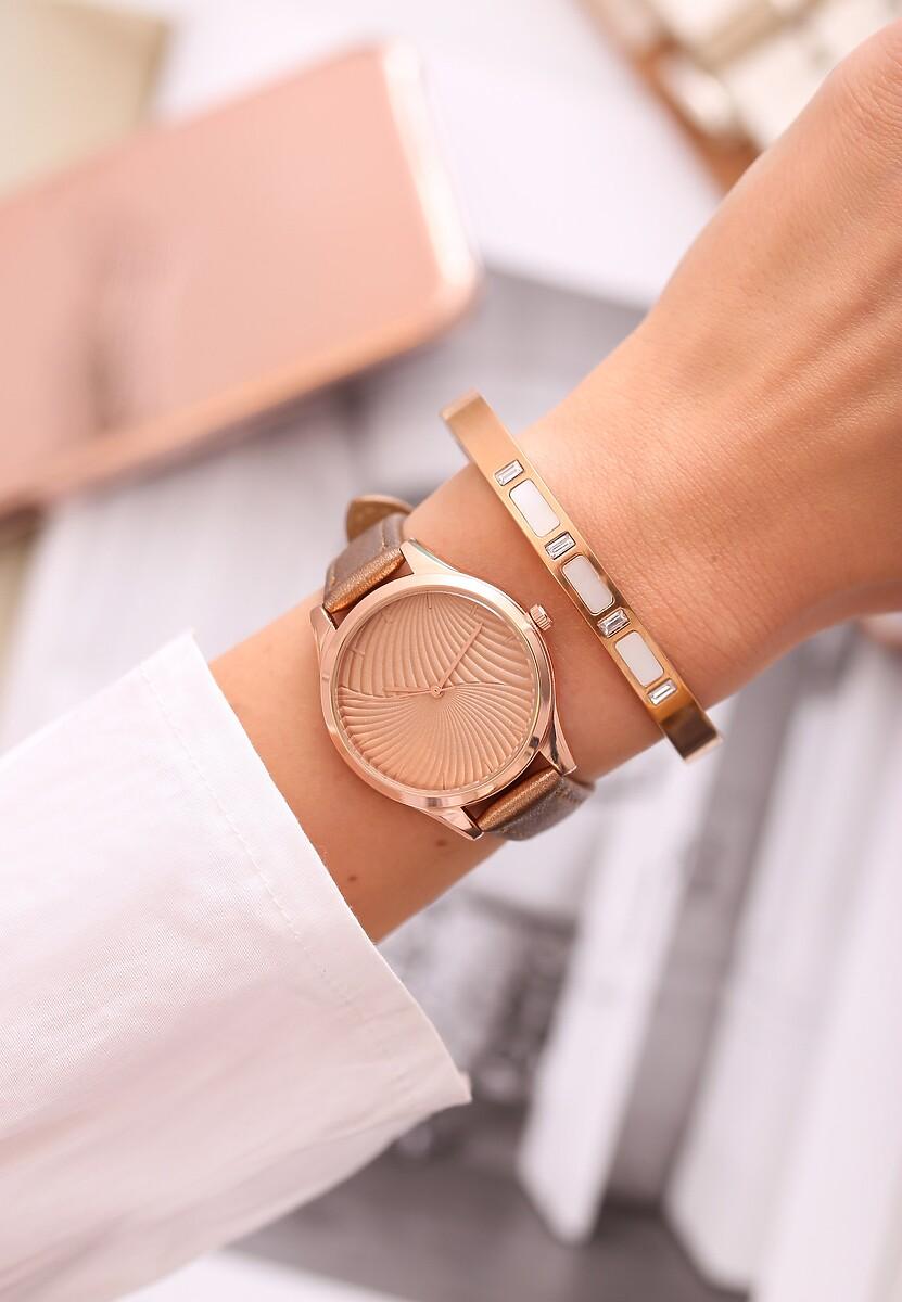 Ciemnobeżowy Zegarek Portfolio