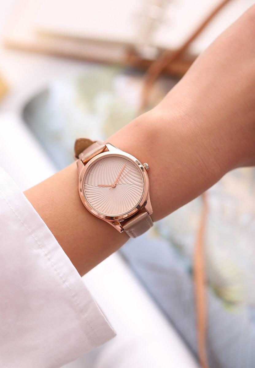 Beżowy Zegarek Portfolio