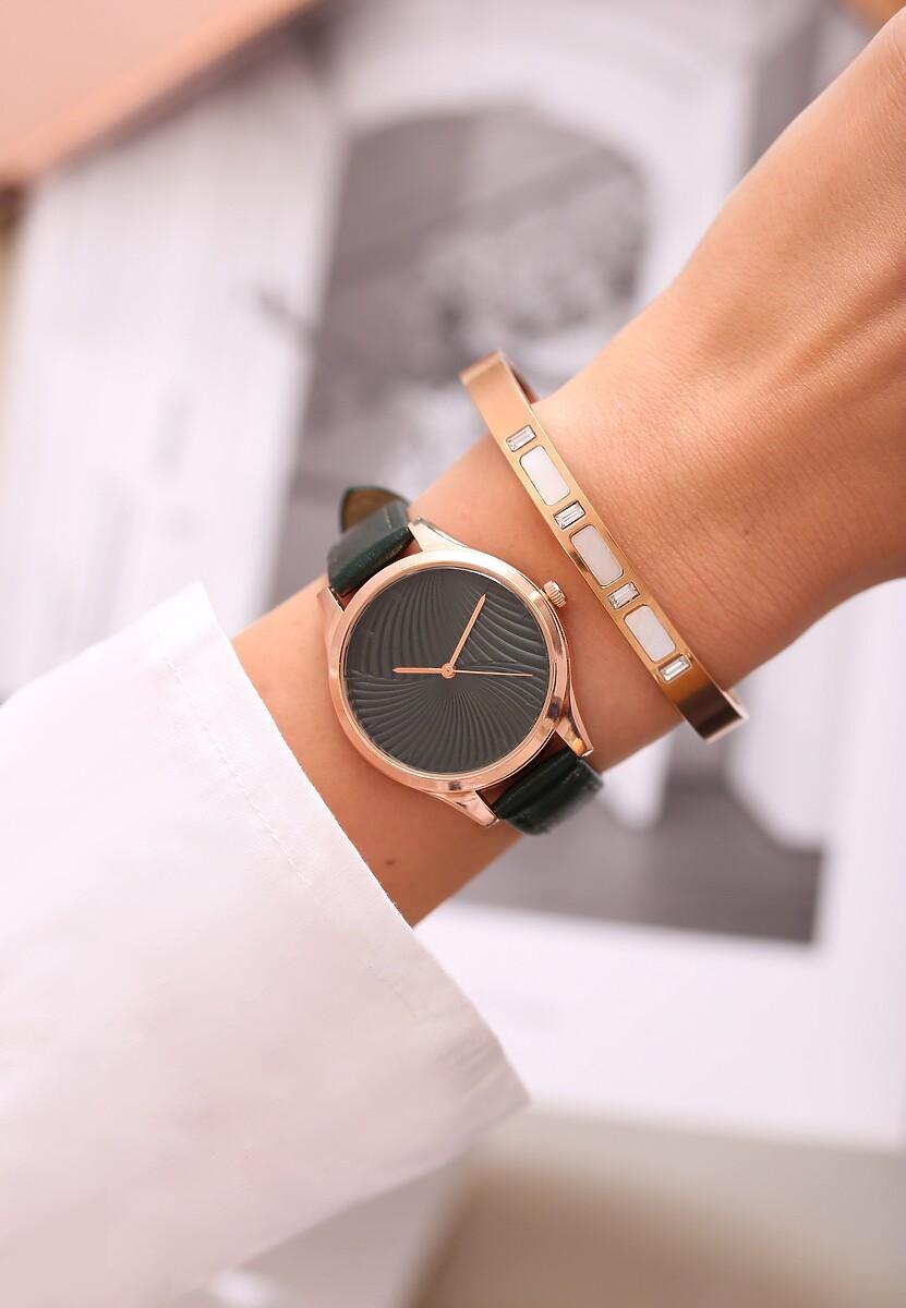 Ciemnozielony Zegarek Portfolio