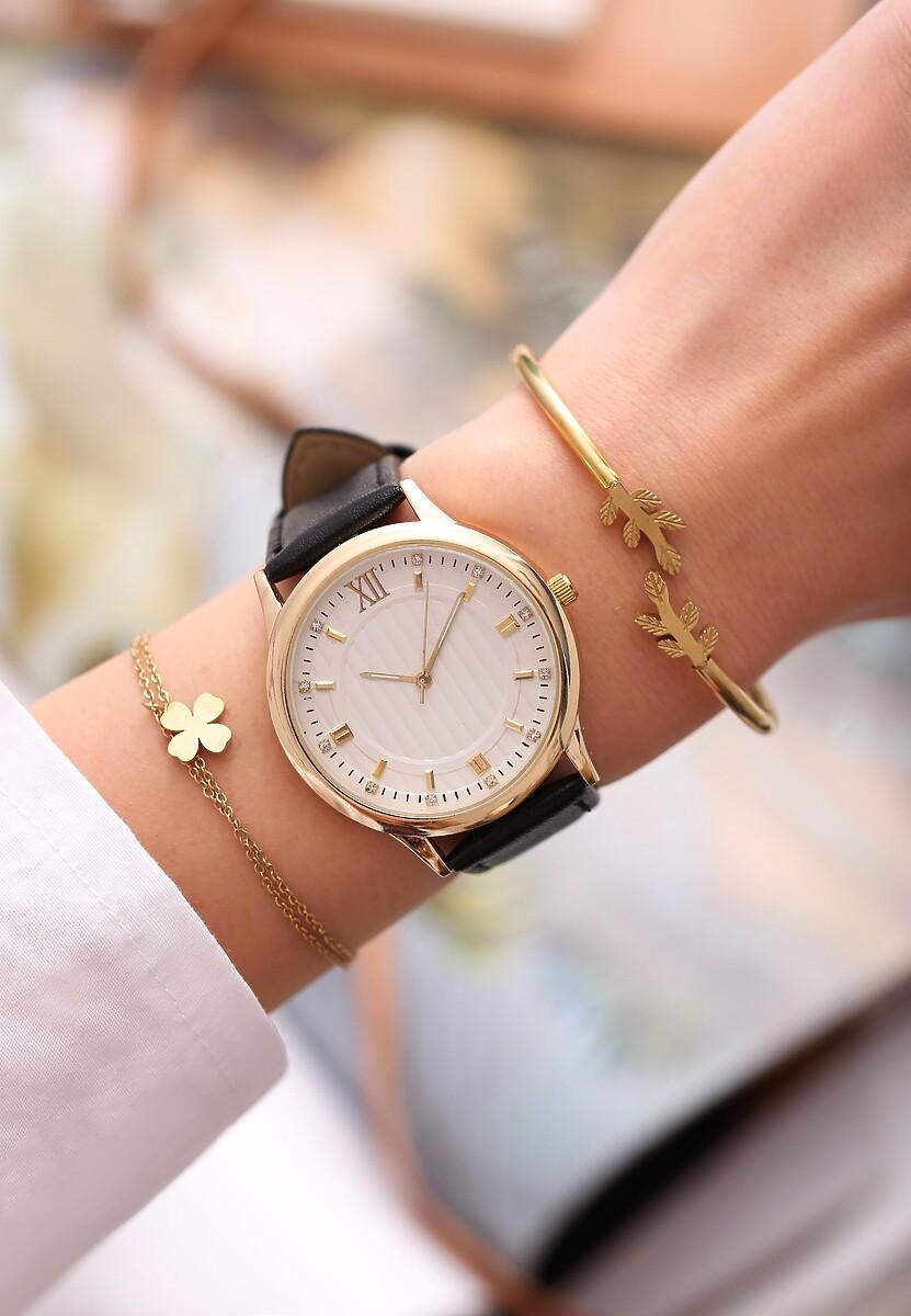 Czarno-Biały Zegarek Day-to-day