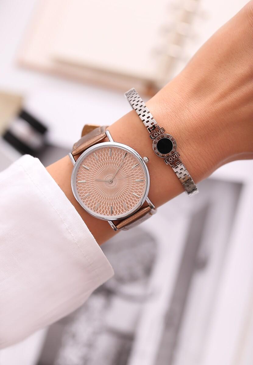 Ciemnobeżowy Zegarek Miser