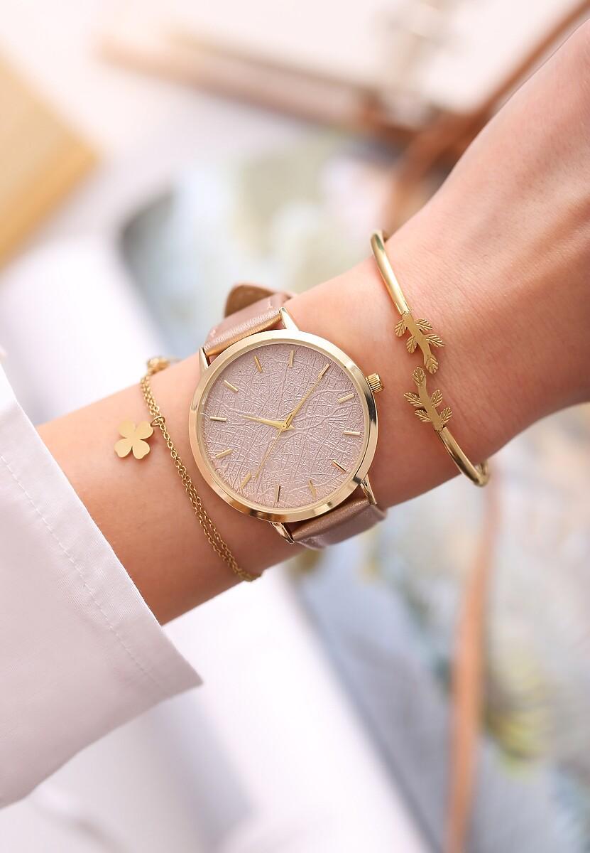 Beżowy Zegarek Preprint