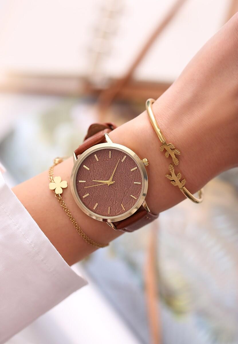 Brązowy Zegarek Preprint