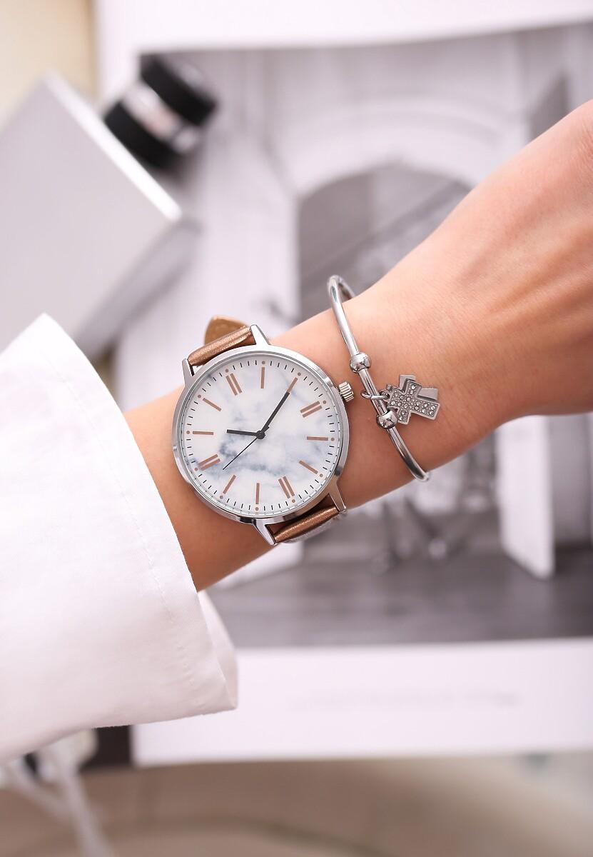 Ciemnobeżowy Zegarek Orbit