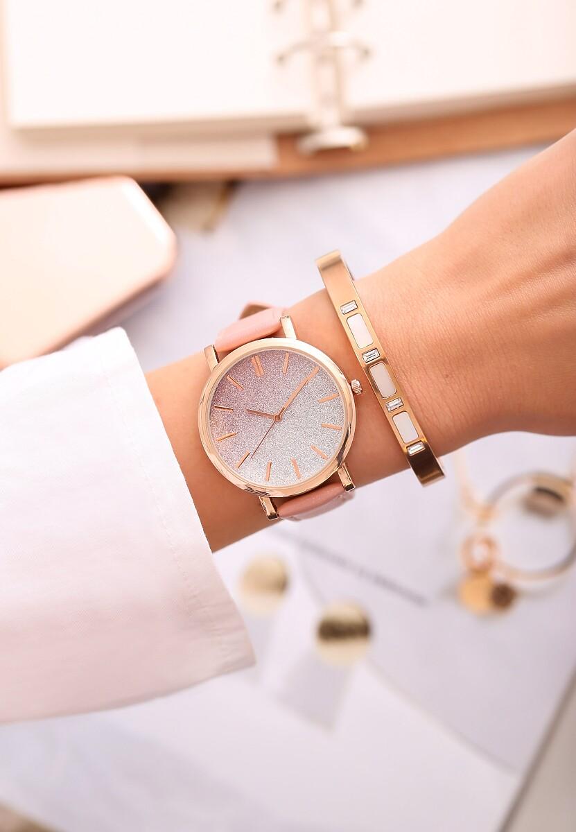 Różowy Zegarek Perfekt