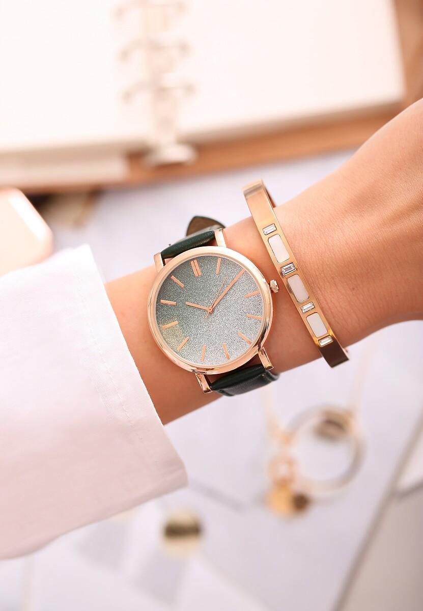 Ciemnozielony Zegarek Perfekt