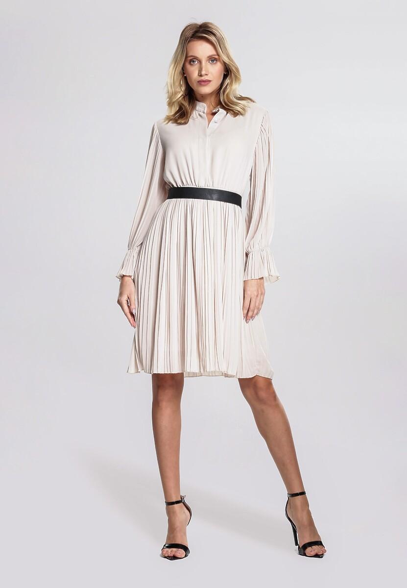 Jasnobeżowa Sukienka Bottom Line