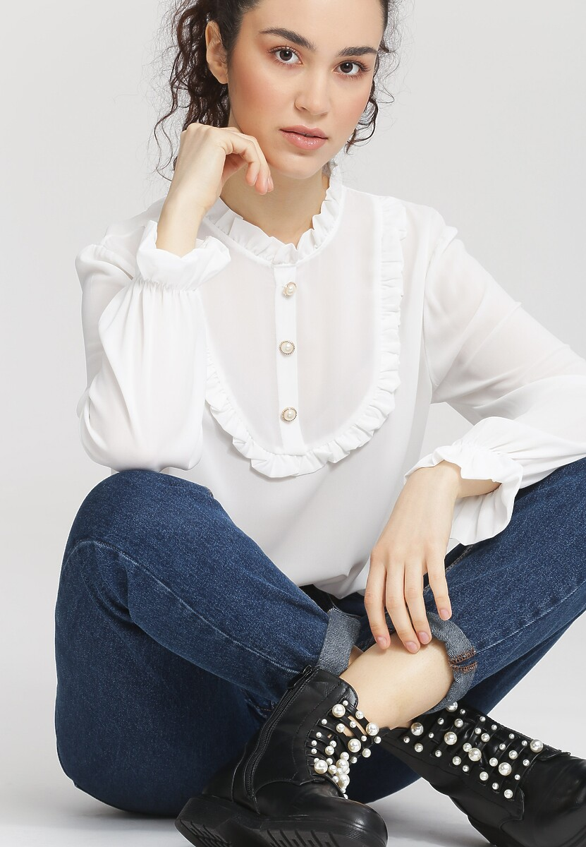 Biała Bluzka Bunny Lolita