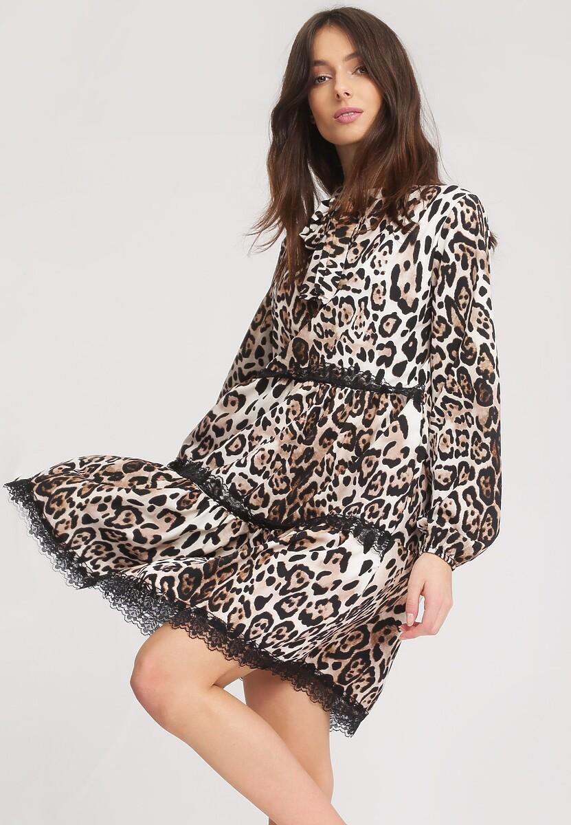 Beżowa Sukienka Longan