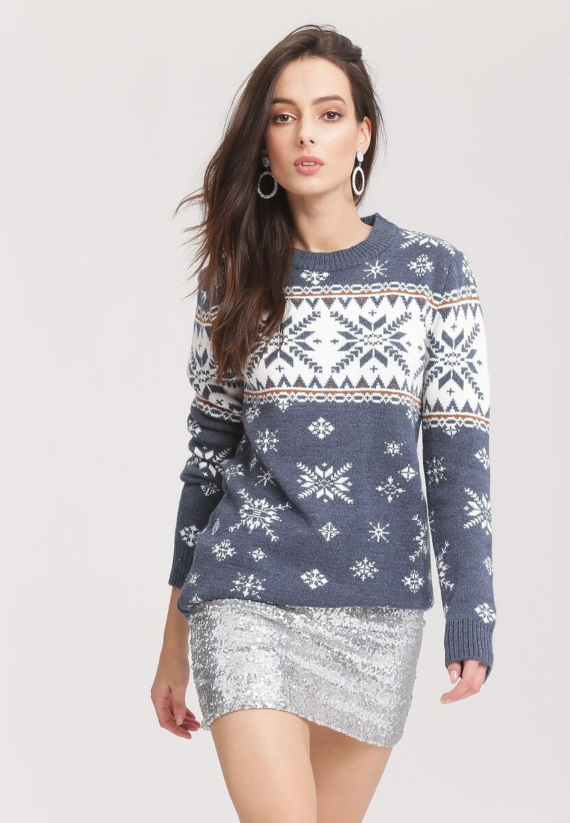 Granatowy Sweter No sweat