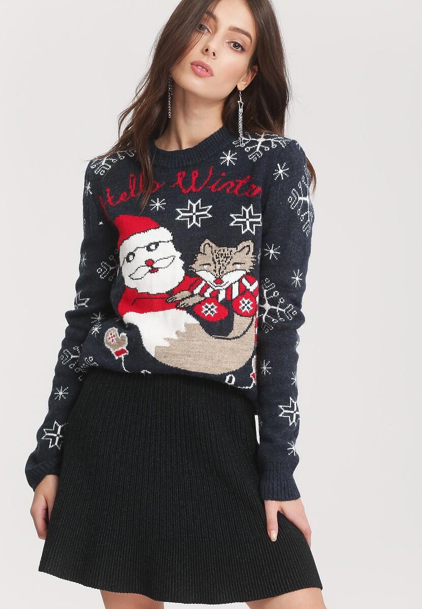 Granatowy Sweter Take A Look